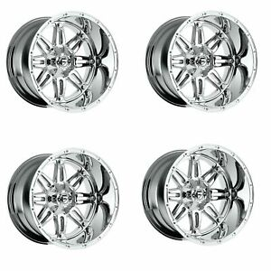 Set 4 18 Fuel Hostage D530 Chrome Wheels 18x9 6x120 6x5 5 19mm 6 Lug Truck Rims
