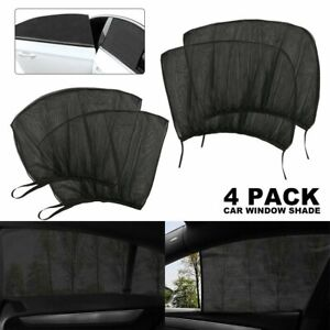 4pcs Sun Shade Front Rear Window Screen Cover Sunshade Protector For Car