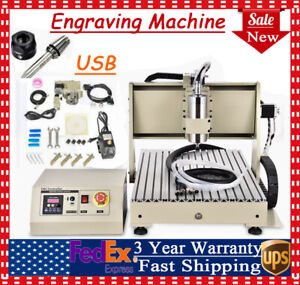 Diy 4axis Mini Mill Usb Cnc Router Wood Carving Engraving Milling 6040 Machine