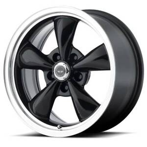 16x7 American Racing Torq Thrust M 5x100 Et35 Black Wheels Set Of 4