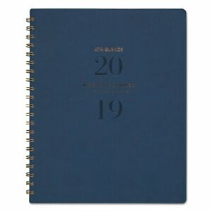 At a glance Signature Collection Firenze Navy Weekly monthly Planner 8 3 8 X