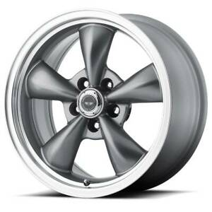 18x8 American Racing Torq Thrust M 5x114 3 Et0 Anthracite Rims Set Of 4