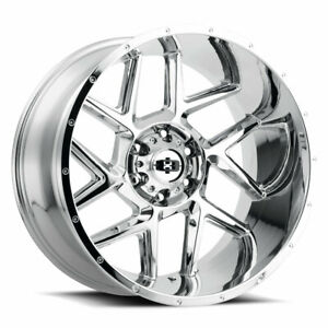 22 Vision Sliver 360 Chrome Wheel 22x12 6x5 5 57mm Lifted 6 Lug Truck Rim