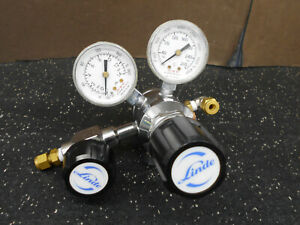 Linde 791546 Pressure Regulator W Second Regulator 2 Brass Connections