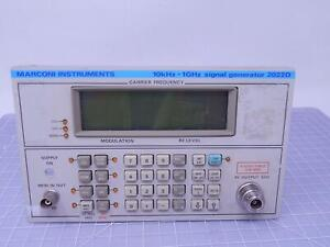Marconi Instruments 10 Khz 1 Ghz Signal Generator Front Panel Assembly For 202