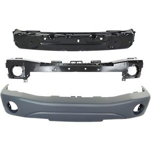 Bumper Cover For 2004 2006 Dodge Durango Front Set Of 3