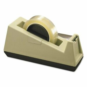 Scotch Heavy duty Weighted Desktop Tape Dispenser 3 Core Plastic Putty b