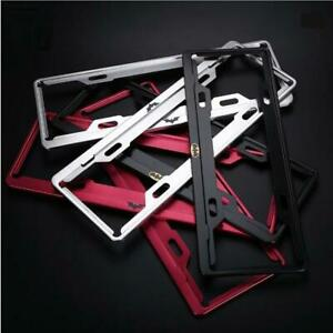 Black red silver Anti theft Aluminum Alloy License Plate Frame Holder With Screw