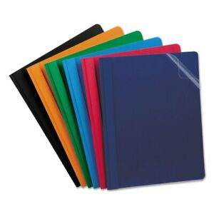 Esselte Oxford Report Cover Tang Clip Letter 1 2 Capacity Assorted Colors