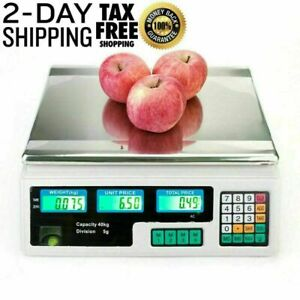 Digital Price Computing Scale Electronic Lcd Commercial Food Meat Counting Weigh