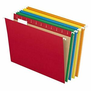 Pendaflex Recycled Hanging File Folders Letter Size Assorted Colors Two tone