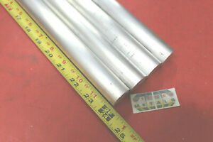 4 Pieces 1 Aluminum 6061 Round Rod 24 Long T6511 Solid Bar Lathe Stock 1 0 Od