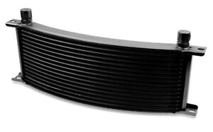 Earls 71606aerl Earls Temp A Cure Oil Cooler Black 16 Rows Narrow Curve
