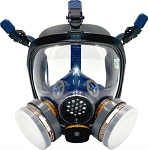 Organic Vapor Respirator Full Face Gas Mask With Double Activated Carbon Air