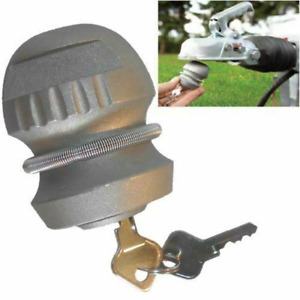 Hitch Lock For Trailers Trailer Caravans Security Tow Bar 50mm Ball 2 Keys