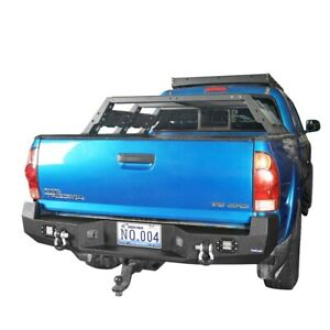 For 05 15 Toyota Tacoma Rear Bumper Upgrade Conversion W License Plate Steel
