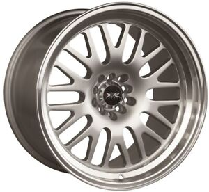 17x9 Xxr 531 5x100 114 3 25 Hyper Silver Machine Lip Wheels Set 4