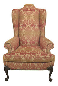 30778ec Taylor King Large Oversized Queen Anne Wing Back Chair