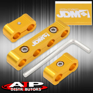 V4 Jdm Sport Light Weight Heavyduty Cnc Gold Aluminum Spark Plug Wire Spacers