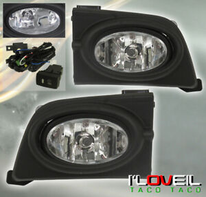 2006 2008 Honda Civic 4dr Driving Bumper Front Clear Red Rear Fog Light Lamp