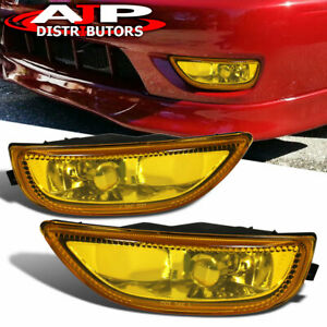 Yellow Replacement Bumper Driving Fog Lights Lamps For 2001 2002 Toyota Corolla