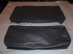 Willys Jeep Rear Seat Covers Slate Grey With Long Back For 4 Back And Bottom