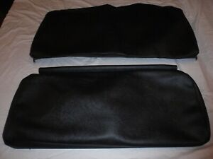 Willys Jeep Rear Seat Covers Black With Long Back For 4 Back And Bottom Cj3a