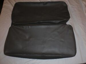 Willys Jeep Rear Seat Covers Dark Grey With Long Back Thick Cushions Cj3a