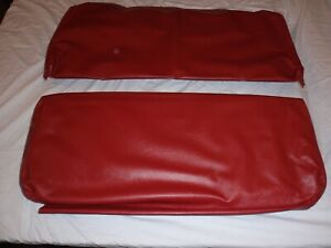 Willys Jeep Rear Seat Covers Red Barcelona With Long Back For 4 Back And Bot