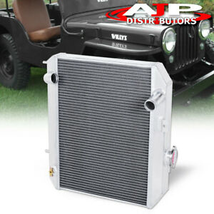 Tri core Aluminum Performance Engine Radiator For 1941 1952 Ford Gpw jeep Willys