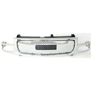 Grille For 2001 2006 Gmc Yukon Yukon Xl 1500 Chrome Plastic