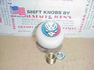 Vw Grateful Dead Steal Your Face Custom Shift Knob white Pearl
