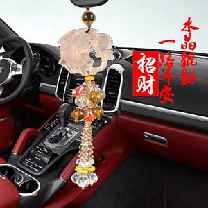 Glass Pixiu Car Hanging Ornament Pendant Car Interior Decor Accessories
