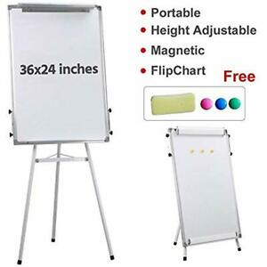 36x24 39 39 Portable Magnetic Dry Erase Easel Board Tripod Presentation Height 1