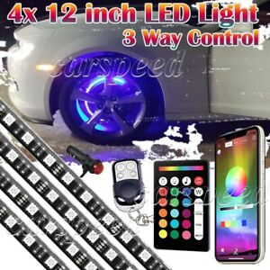 4pcs Multi Color Car Truck Wheel Well Led Light Kit Custom Accent Neon Rim Tire