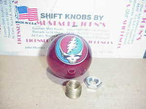 Vw Vanagon Only greatful Dead Steal Your Face Custom Shift Knob red Glitter