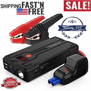 Trekpow Car Battery Jump Starter 1200a Peak 12v Portable Auto Battery Booster