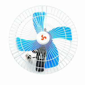 10 12v Auto Car Dashboard Oscillating Clip On Fan Cooler With Cigarette Lighter