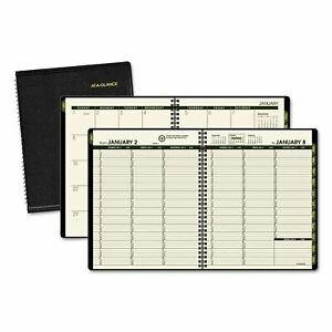At a glance Recycled Weekly monthly Classic Appointment Book 6 7 8 X 8 Black