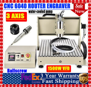 3 Axis Cnc Router Kit 6040 Er11 a Engraver Machine Diy Pcb Milling Wood Carving