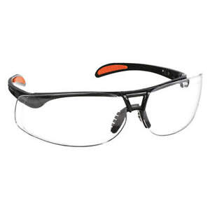 Uvex Protege Xc Metallic Safety Glasses Black Clear Lens Hard Coat Pack Of 10