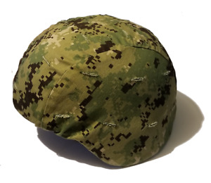 USGI US WOODLAND DIGITAL USN NAVY SEAL MSA ACH HELMET COVER LARGE XLARGE  NEW