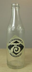 Coca-Cola 75th Anniversary Bottle Coke 10 oz Alabama Bottling Empty 1903-1978