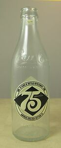 Coca Cola 75th Anniversary Bottle Coke 10 oz Americus Bottling Empty 1906-1980
