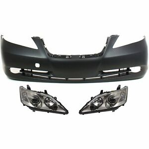 Bumper Cover Kit For Lexus Es350 Front 3pc With Headlight