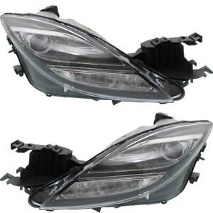 Headlight Set For 2009 2010 Mazda 6 Gt I S Gs Models Sedan Left And Right Hid