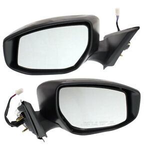 Power Mirror Set For 2013 2018 Nissan Altima Heated With Signal Light Paintable