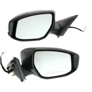 Side View Mirrors Power Signal Ptm Left Lh Right Rh Pair Set For Nissan Sentra