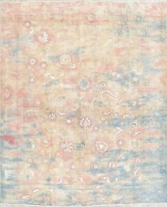 10 X12 Over Dyed Worn Out Modern Design Area Rug Oriental Wool Handmade Carpet