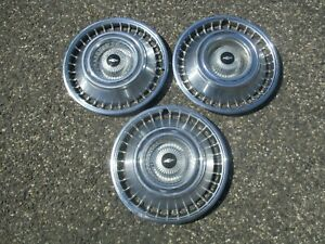 Lot Of 3 Factory 1964 Chevy Impala 14 Inch Hubcaps Wheel Covers
